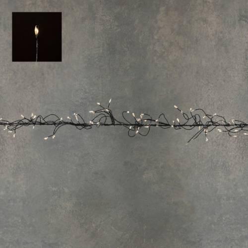 "Гірлянда-кластер, чорна струна, ""Luca"", 8 м, теплий білий"
