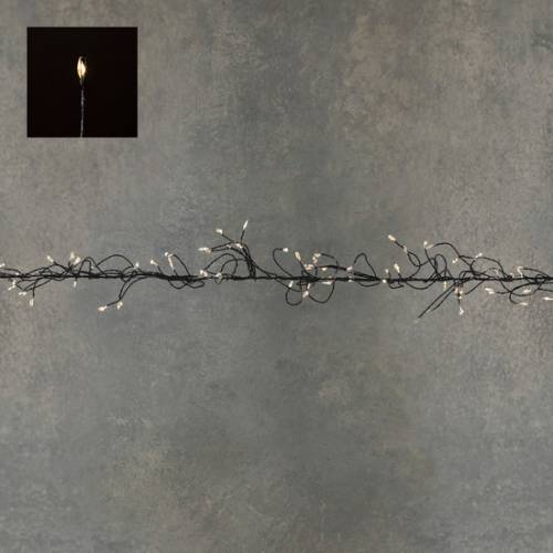 "Гірлянда-кластер, чорна струна, ""Luca"", 14 м, теплий білий"