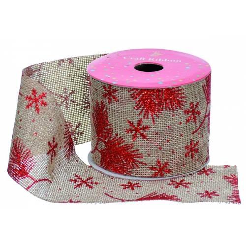 """Стрічка декоративна з візерунком 2.7 м, текстиль, """"Jumi"""", червоний"""