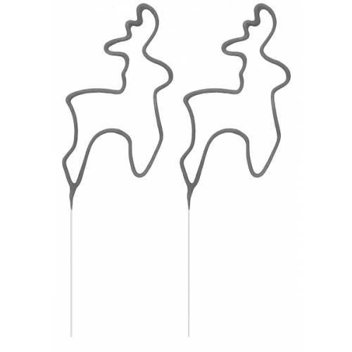 Вогні бенгальські, фігурні, Олень, 2 шт компл., 23 см