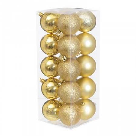 Набір кульок з візерунком, 20 шт. 6 см. золотий