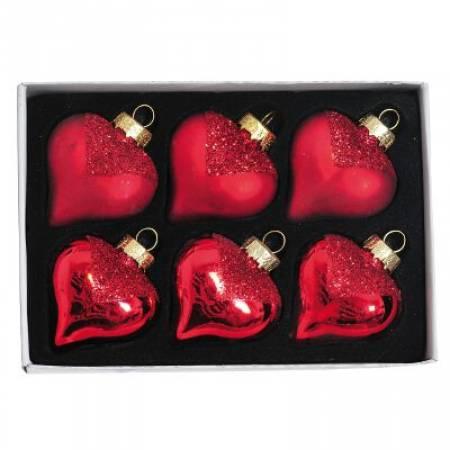 Набір кульок у формі серця, 6 шт. 5 см.