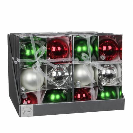 Ялинкові кульки, комплект 6 шт