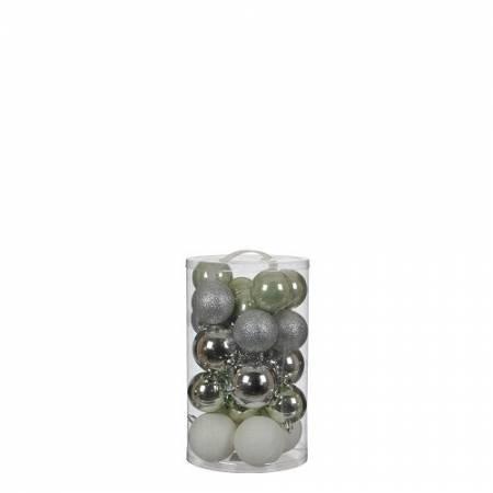 """Елочные шарики """"House of Seasons"""" комплект 23 шт, цвет: микс оттенки серого"""