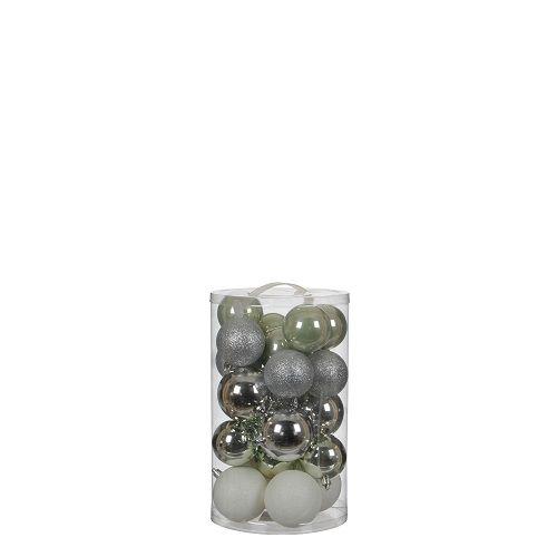 """Ялинкові кульки """"House of Seasons"""" комплект 23 шт, колір: мікс відтінки сірого"""