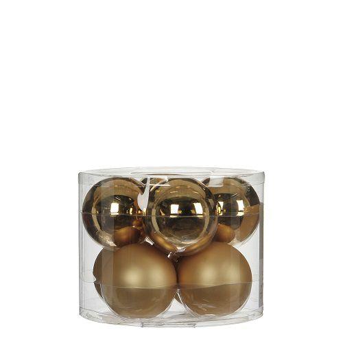 """Ялинкові кульки""""House of Seasons"""" комплект 8 шт, колір шампань"""