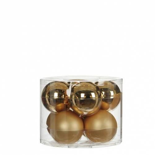 """Ялинкові кульки 8 шт., """"House of Seasons"""" комплект, колір золотий"""