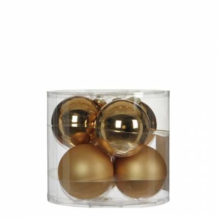 """Елочные шарики """"House of Seasons"""" комплект 6 шт, цвет шампань"""