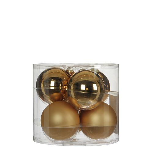 """Ялинкові кульки""""House of Seasons"""" комплект 6 шт, колір шампань"""