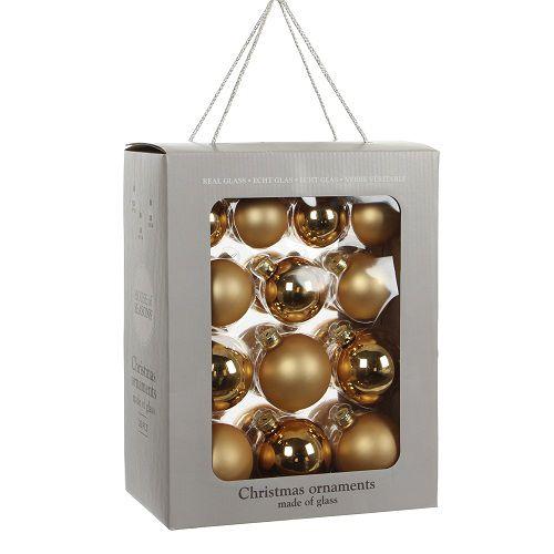 """Ялинкові кульки 26 шт., """"House of Seasons"""" комплект, колір золотий"""