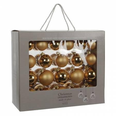 """Елочные шарики """"House of Seasons"""" набор из 42 шт, цвет золотой"""