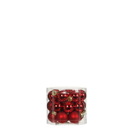 """Елочные шарики 24 шт., """"House of Seasons"""" комплект, цвет красный"""