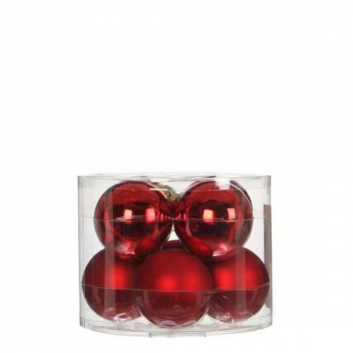 """Ялинкові кульки 8 шт., """"House of Seasons"""" комплект, колір червоний"""