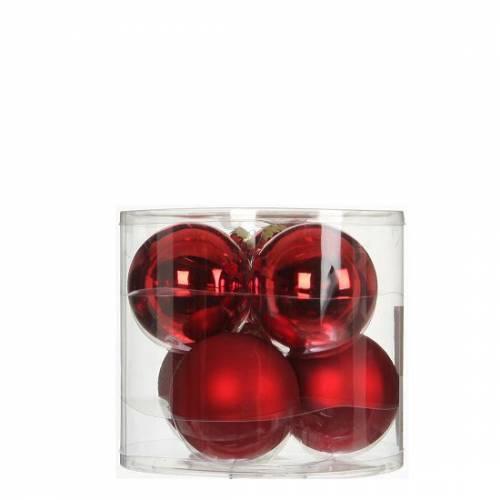 """Елочные шарики 6 шт., """"House of Seasons"""" комплект, цвет красный"""