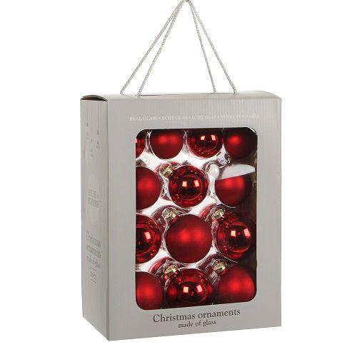 """Ялинкові кульки 26 шт., """"House of Seasons"""" комплект, колір червоний"""