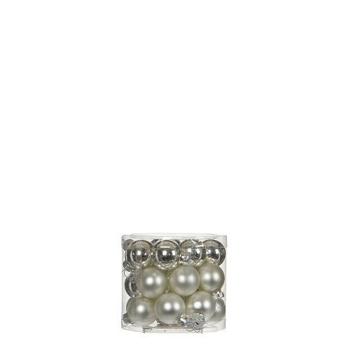 """Ялинкові кульки 24 шт., """"House of Seasons"""" комплект, колір сірий"""