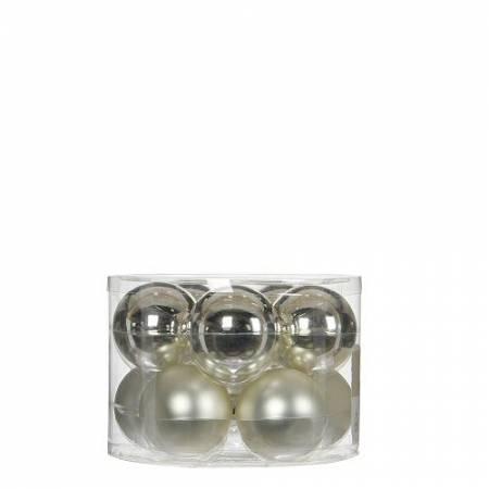 """Елочные шарики 10 шт., """"House of Seasons"""" комплект, цвет серебро"""