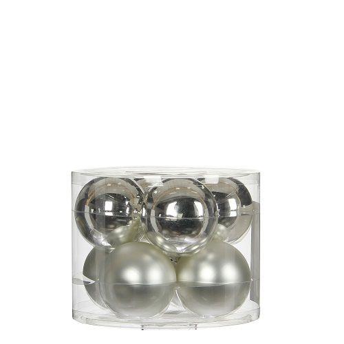 """Ялинкові кульки 8 шт., """"House of Seasons"""" комплект, колір сірий"""