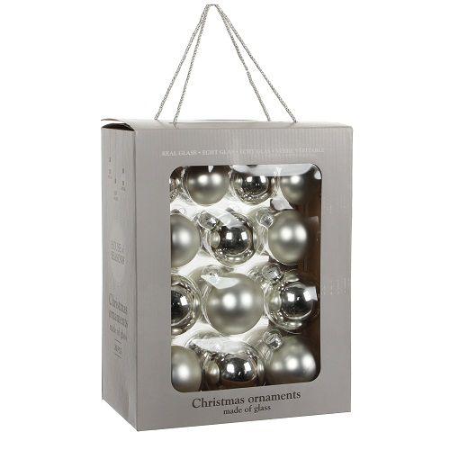 """Ялинкові кульки 26 шт., """"House of Seasons"""" комплект, колір сірий"""