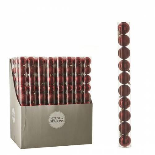"""Ялинкові кульки 10 шт., """"House of Seasons"""" комплект, колір червоний"""