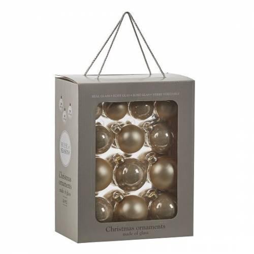 """Ялинкові кульки 26 шт., """"House of Seasons"""" комплект, колір золотистий"""