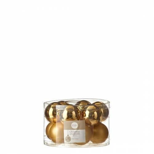 """Ялинкові кульки 12 шт., """"House of Seasons"""" комплект, колір золотистий"""