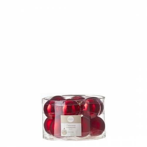 """Ялинкові кульки 12 шт., """"House of Seasons"""" комплект, колір червоний"""