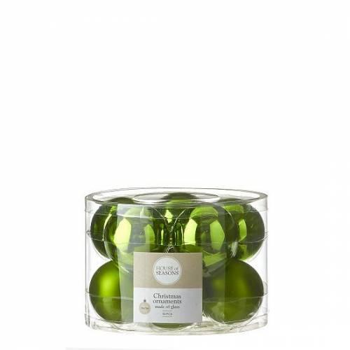 """Ялинкові кульки 10 шт., """"House of Seasons"""" комплект, колір зелений"""