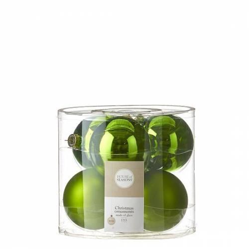 """Ялинкові кульки 6 шт., """"House of Seasons"""" комплект, колір зелений"""