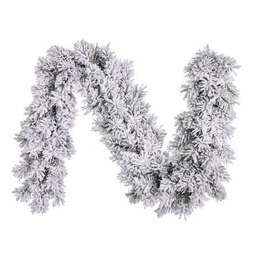 Гірлянда 180 см. декоративна Dinsmore Frosted зелена зі снігом