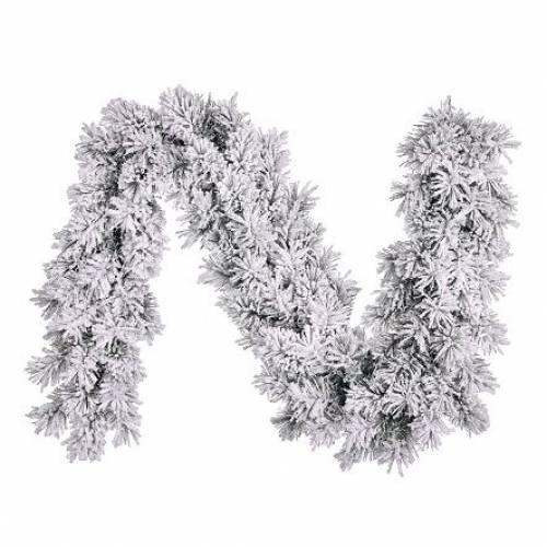 Гірлянда 270 см. декоративна Dinsmore Frosted зелена зі снігом
