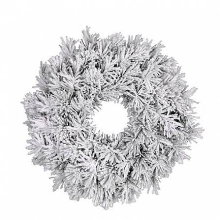 Вінок ø 0,45 см. декоративний Dinsmore Frosted зелений зі снігом