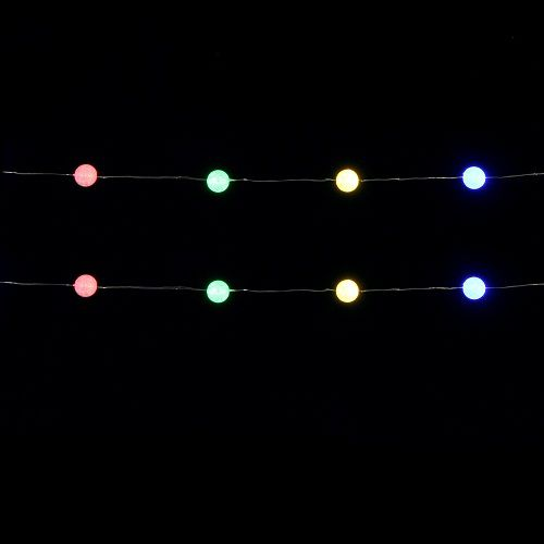 """Гірлянда 1,9 м., """"Струна"""" з кульками, """"Luca"""", мультикольорова"""
