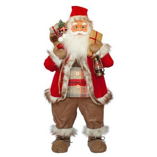 Фігурка новорічна Санта Клаус, 81 см (Червоний/Коричневий)