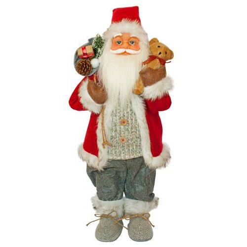 Фігурка новорічна Санта Клаус, 61 см (Червоний / Сірий)