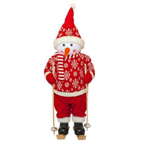 Фігурка новорічна веселий червоний Сніговик, 82 см
