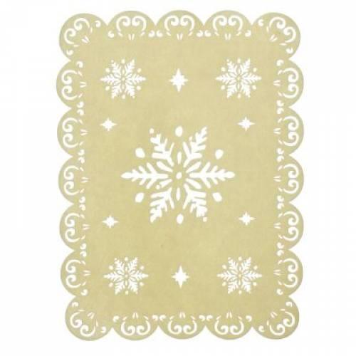 Декоративна підставка під ялинку зі сніжинками, 45*30 см.