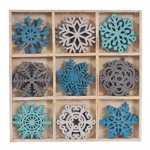 """Набір декоративних прикрас """"Сніжинки"""", 36 шт., Jumi"""