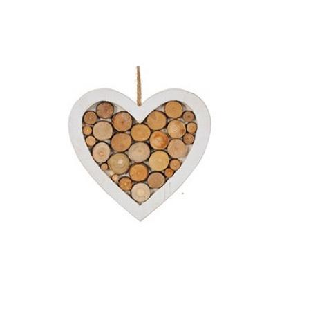 """Декорация деревянная """"Сердце"""", 18 см."""