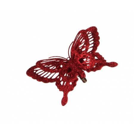 """Прикраса декоративна кліпса """"Метелик червоний"""""""