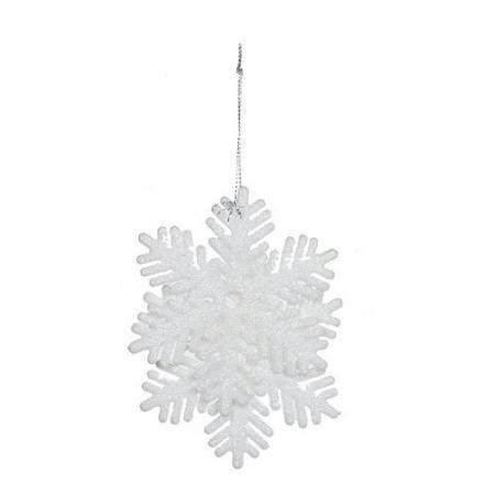 """Прикраса декоративна """"Сніжинка мереживна"""" """"Christmas House"""", 2 шт, біла"""