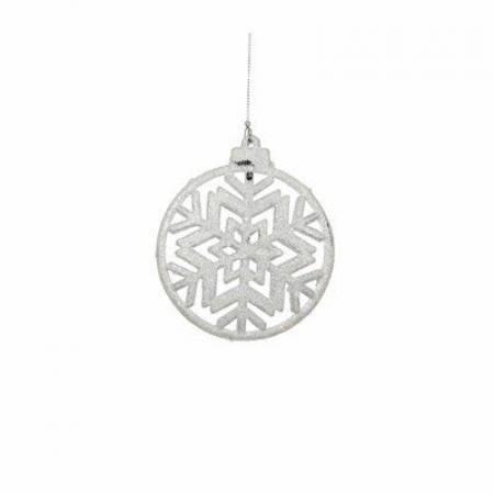 """Прикраса декоративна """"Сніжинка симетрична"""" """"Christmas House"""", колір білий"""