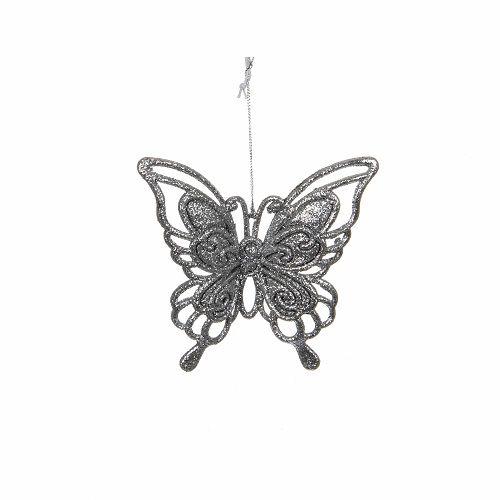 """Прикраса декоративна """"Метелик підвісний"""" House of Seasons, колір сріблястий"""