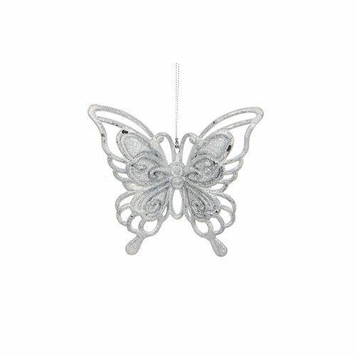 """Прикраса декоративна """"Метелик підвісний"""" House of Seasons, колір білий"""