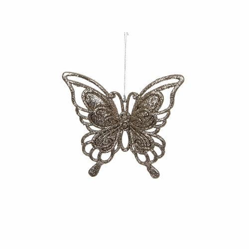 """Прикраса декоративна """"Метелик підвісний"""" House of Seasons, колір шампань"""