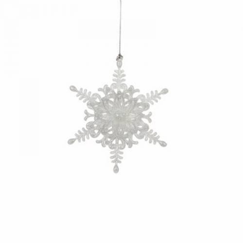 """Прикраса декоративна """"Зірка шестикутна"""" """"Christmas House"""", колір білий"""