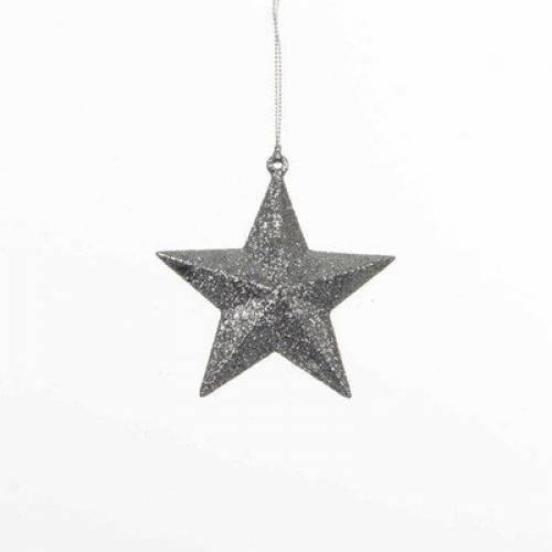 """Прикраса декоративна """"Зірка об'ємна"""" """"Christmas House"""", колір сріблястий"""