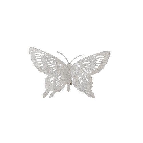 """Прикраса декоративна кліпса """"Метелик білий"""" House of Seasons"""