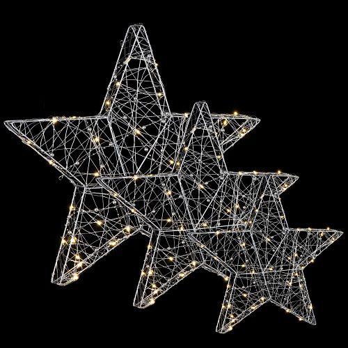 """Комплект із 3-х декоративних фігурок """"Три зіроньки"""", 55*5*55 см., Luca Lighting"""