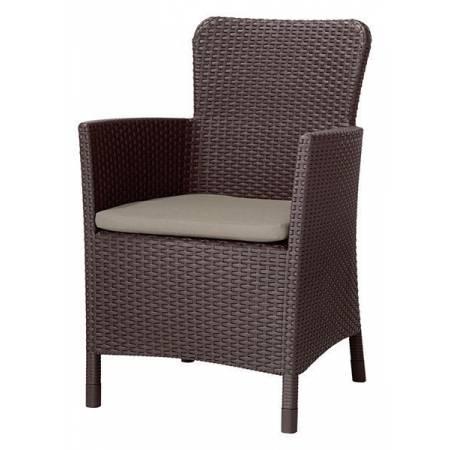 Крісло пластикове Miami DC, коричнево-бежеву